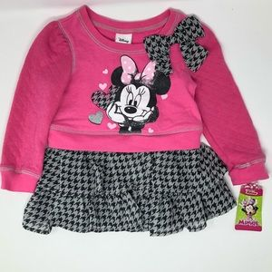 Minnie Mouse Adorable Bow Ruffle Top